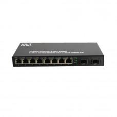 Медиаконвертер 10-портовый HongRui HR900WS-2G8GE