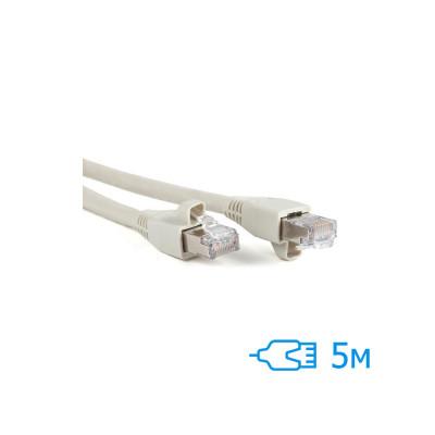 Патч-корд 5м FTP Cat.5e литой серый RJ45, CU