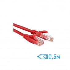Патч-корд 0.5м UTP Cat.5e литой красный RJ45, CU