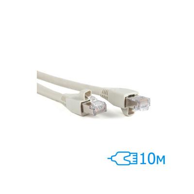 Патч-корд 10м FTP Cat.5e литой серый RJ45, CU