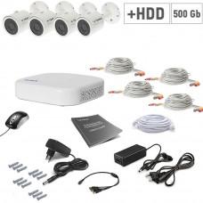 AHD Tecsar 4OUT + HDD 500GB