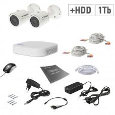 AHD Tecsar 2OUT + HDD 1TB