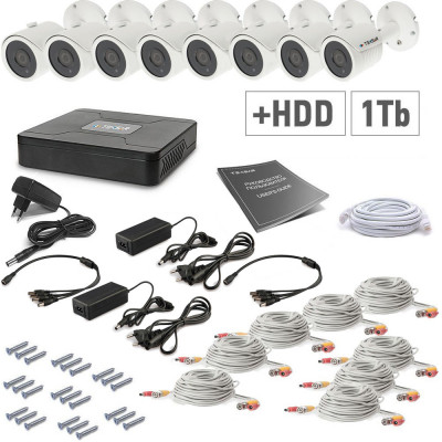 AHD Tecsar 8OUT + HDD 1TB
