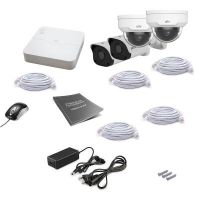 Комплект IP видеонаблюдения Uniview 4MIX 4MEGA