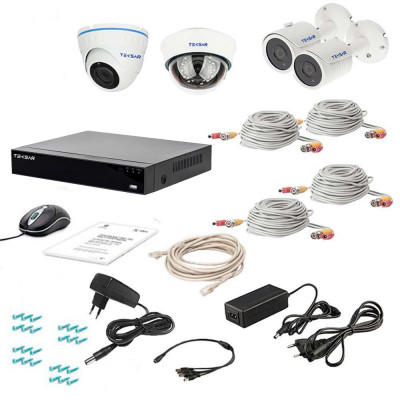 Комплект видеонаблюдения Tecsar AHD 4MIX 5MEGA
