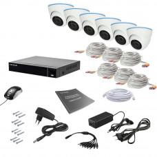Комплект видеонаблюдения Tecsar AHD 6IN 5MEGA