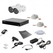 Комплект видеонаблюдения Tecsar AHD 2OUT 2MEGA
