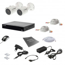 Комплект видеонаблюдения Tecsar AHD 2OUT 5MEGA
