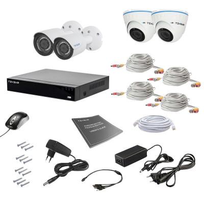 Комплект видеонаблюдения Tecsar AHD 4MIX 2MEGA