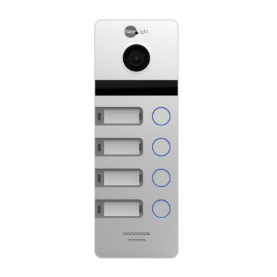 Многоабонентская вызывная панель NeoLight MEGA/4 Silver