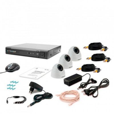Комплект видеонаблюдения Tecsar AHD 3IN-3M DOME