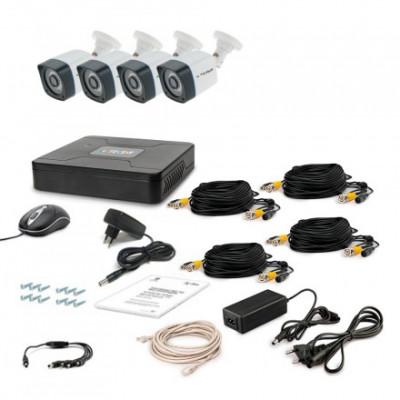 Комплект видеонаблюдения Tecsar AHD 4OUT LIGHT LUX