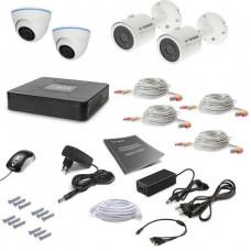 Комплект видеонаблюдения Tecsar 4OUT-MIX LUX
